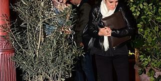 Serenay Sarıkaya gazetecileri görünce saklandı!