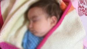 8 aylık bebeği terk edip kaçtılar