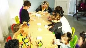 Çocuklar mutluluğu Anı Sanat'ta buluyor