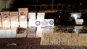 Tırda 600 bin liralık kaçak sigara ele geçirildi