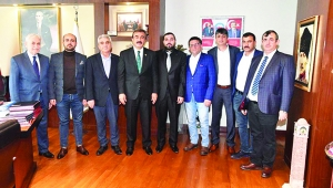 Başkan Çetin'e taziye ziyareti