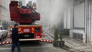 Bodrum katında yangın paniği