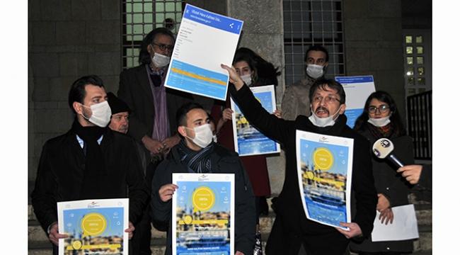 Hava kirliliğine karşı maskeli eylem
