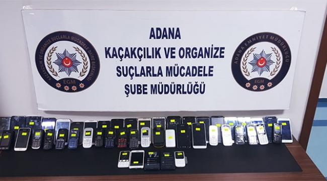 102 kaçak telefon ele geçirildi
