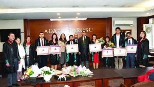 Adana Barosu'na 7 avukat daha katıldı