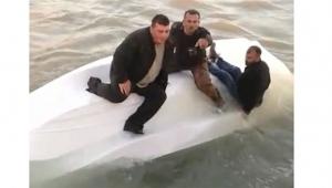 Alabora teknede can pazarı