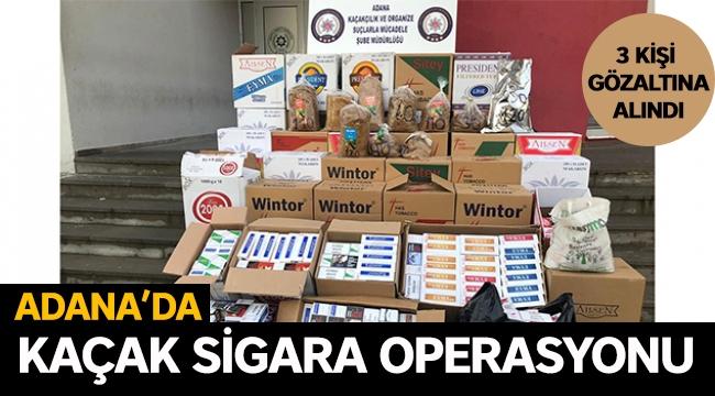 Adana'da kaçak sigara operasyonu 3 gözaltı