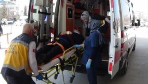 Merdivenden düşerek hastanelik oldu