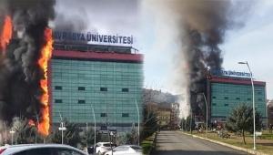 Özel üniversitede yangın paniği