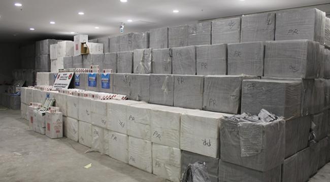 627 bin 500 paket kaçak sigara ele geçirildi