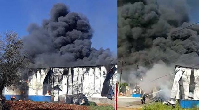 Çıkan yangın fabrikayı kullanılamaz hale getirdi