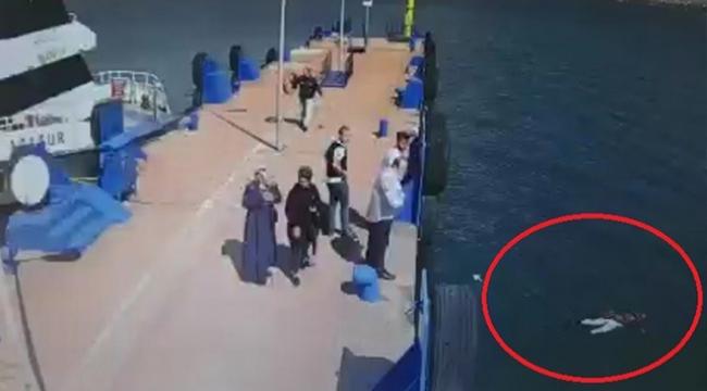 Denize atlayan kadını işte böyle kurtardı!