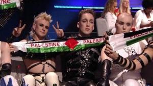 İsrail'deki Eurovision finalinde Filistin bayraklı protestolar geceye damga vurdu