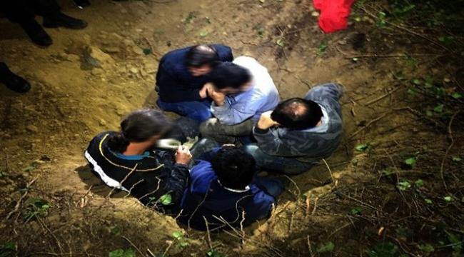 Kaçak define avcısı ölü taklidi yaparak polisten kurtulmaya çalıştı