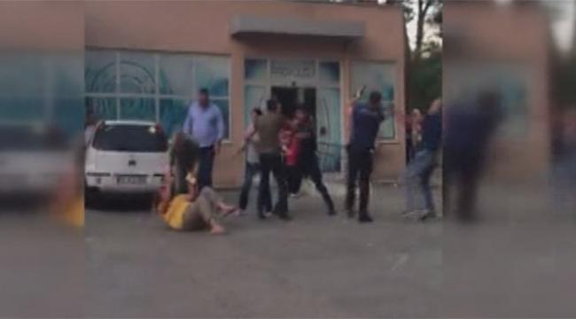 Polis kavgayı havaya ateş açarak ayırdı
