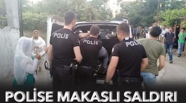 Polise makaslı saldırı