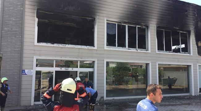 Strafor fabrikasında yangın paniği