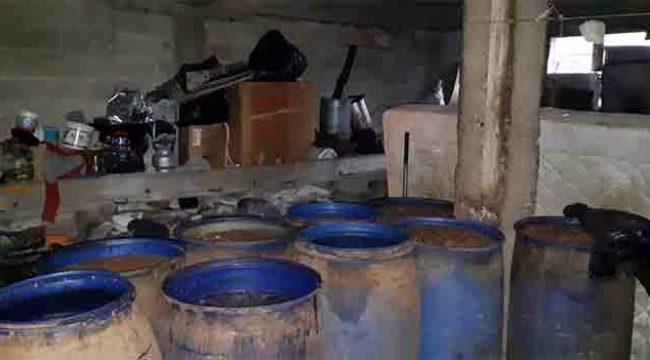 879 litre kaçak içki ele geçirildi