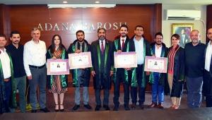 Adana Barosu'na 4 yeni avukat daha katıldı