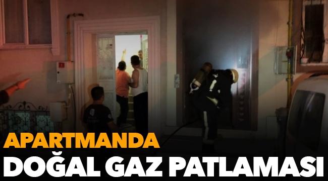 Apartmanda doğal gaz patlaması