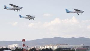 Havacılardan sıra dışı mezuniyet töreni