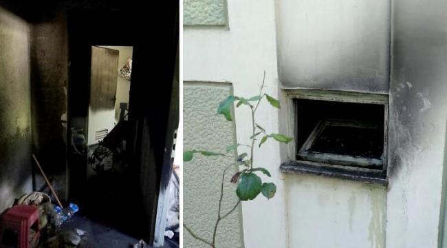 Komşularına kızıp apartmanı ateşe verdi