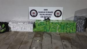 Otomobilde 4 bin paket kaçak sigara ele geçirildi