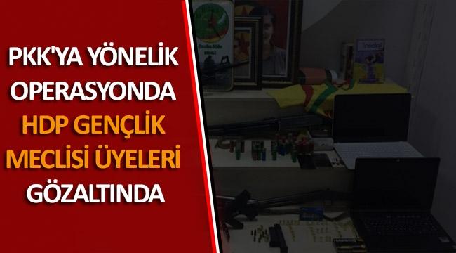 PKK'ya yönelik operasyonda HDP gençlik meclisi üyeleri gözaltında