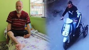 Vicdansız hırsız, engellinin motosikletini çaldı