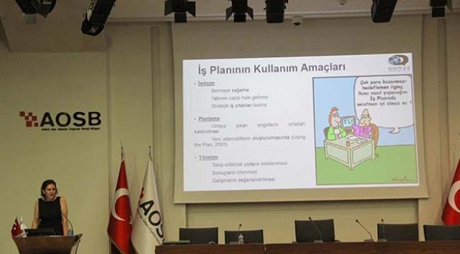 AOSB'de 'İş Planı Hazırlama' eğitimi
