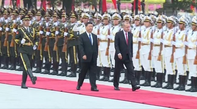 Cumhurbaşkanı Erdoğan Çin Devlet Başkanı ile görüştü