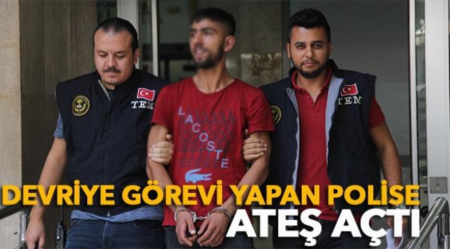 Devriye görevi yapan polise ateş açan zanlı yakalandı