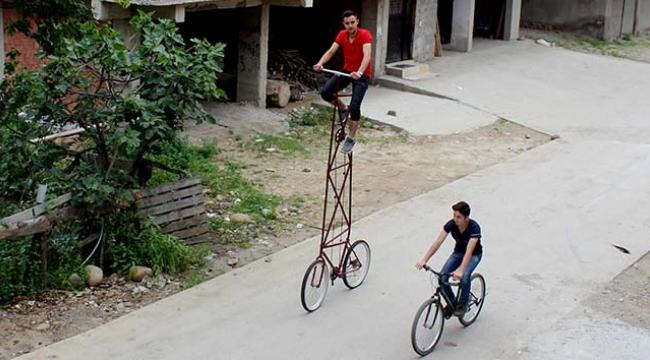 En havalı bisikleti o yaptı