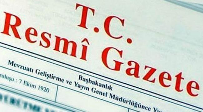 Görevden alma kararları Resmi Gazete'de