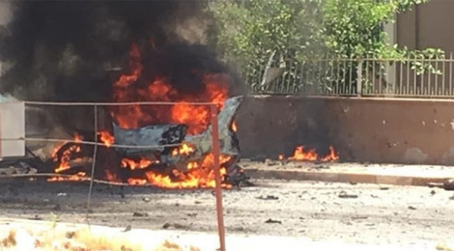 Park halindeki araçta patlama meydana geldi!