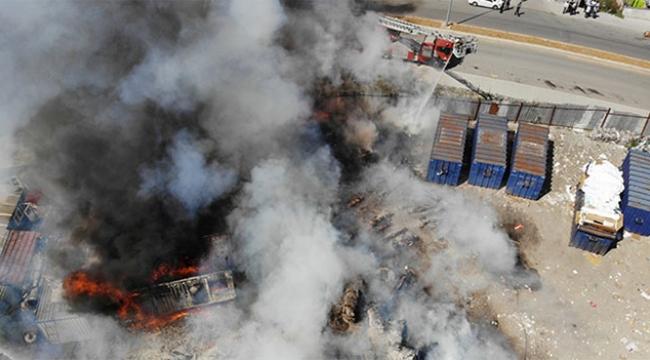 Hurdalık alanda yangın paniği