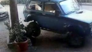 Suç makinesi polis aracına çarparak kaçtı