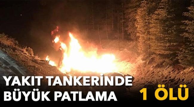Yakıt tankerinde büyük patlama