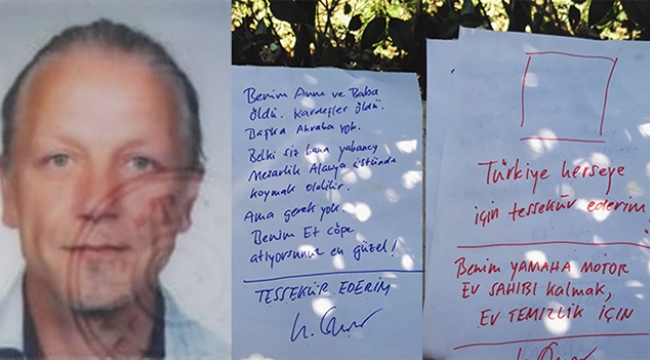 'Beni çöpe atın' yazılı notla ölü bulundu