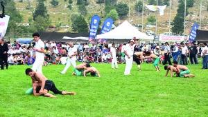 Kızıldağ'da güreş heyecanı