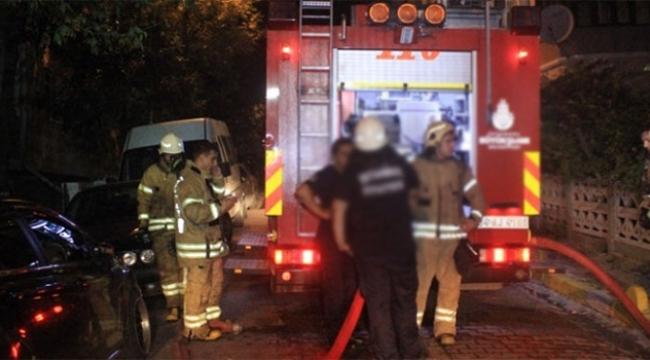 Öğrenci evindeki yangın panik yarattı