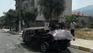 Otomobil hurdaya döndü sürücü ağır yaralı