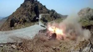 PKK'ya ait hedeflerin vurulma anı görüntülendi