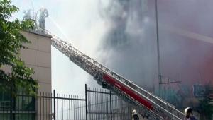 Trafo merkezinde yangın çıktı hastane boşaltıldı