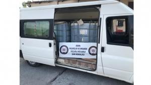 3 bin litre kaçak akaryakıt ele geçirildi