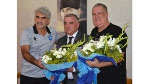 Adana derbisi öncesi teknik direktörler bir araya geldi