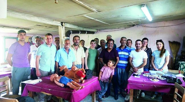 Çiftçilere kazalar ve zehirlenme vakalarına karşı ilk yardım eğitimi