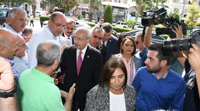 Kılıçdaroğlu kanser tedavisi gören arkadaşına ziyaret etti