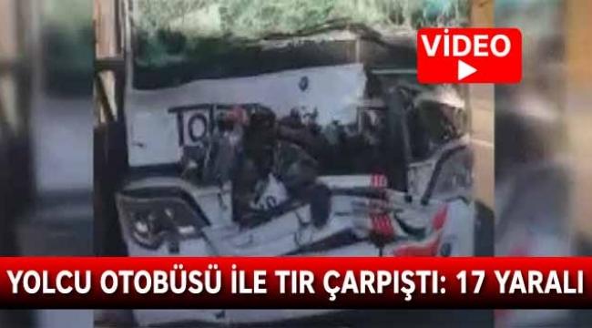 Yolcu otobüsü ile tır çarpıştı: Yaralılar var