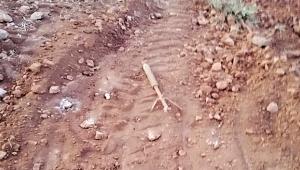 Askeri üs bölgesi yakınlarında patlamamış roket bulundu